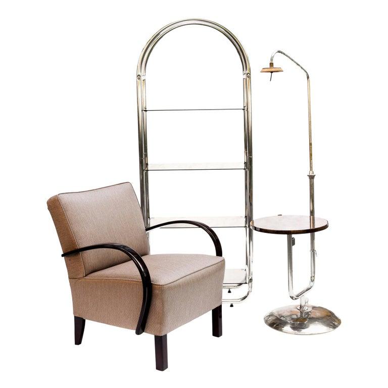 Bauhaus Style Tubular Shelf, Chrome For Sale