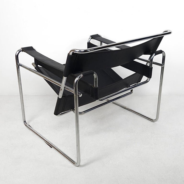 Austrian Bauhaus Style Wassily Chair by Marcel Breuer for Knoll International For Sale