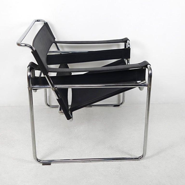 Steel Bauhaus Style Wassily Chair by Marcel Breuer for Knoll International For Sale
