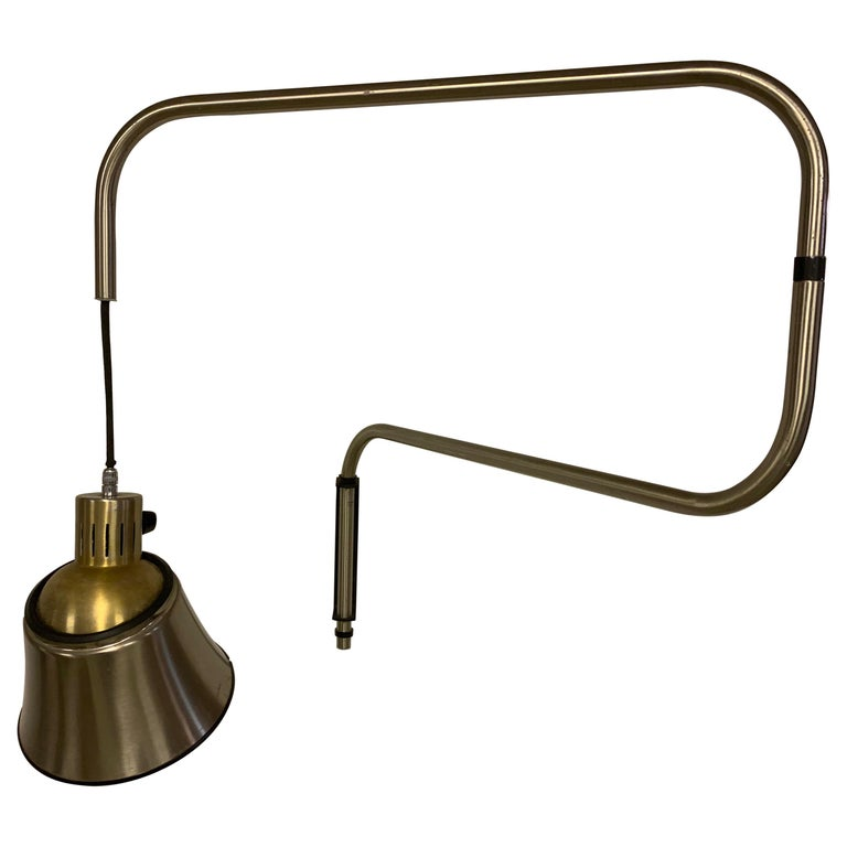 Bauhaus Swing Arm Wall Light by Heinrich Bormann For Sale