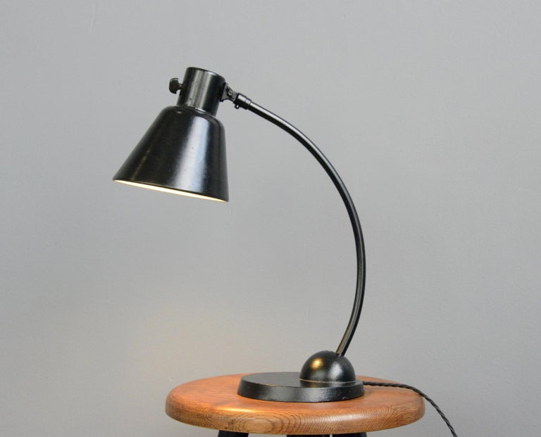 Bauhaus Table Lamp by Schaco, circa 1930s For Sale 1