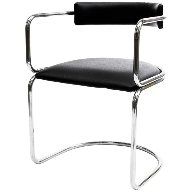 Bauhaus Tubular Armchair, Marcel Breuer Style, Chrome ...