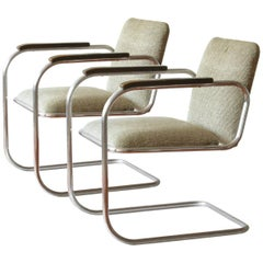 Bauhaus, Tubular Steel Cantilever Chairs Pair, Mauser Werke, Germany, circa 1932