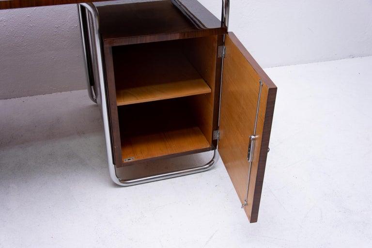 Bauhaus Tubular Writing Desk by Jindřich Halabala for UP Závody, 1930s, Bohemia For Sale 4
