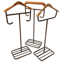 Bauhaus Valet Stand Group of Three Model No. I, II, III, Germany 1930s