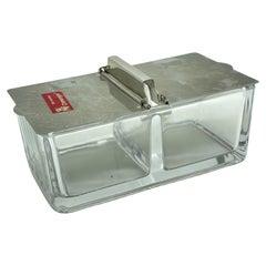 Bauhaus Wagenfeld WMF Marmelade Honey Jelly Menage Glass Stainless Steel