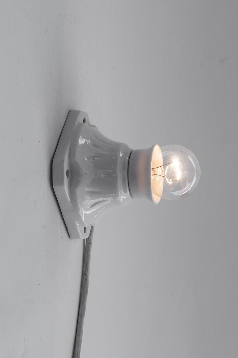 Porcelain Bauhaus Wall Lamp, Germany, circa 1920s For Sale
