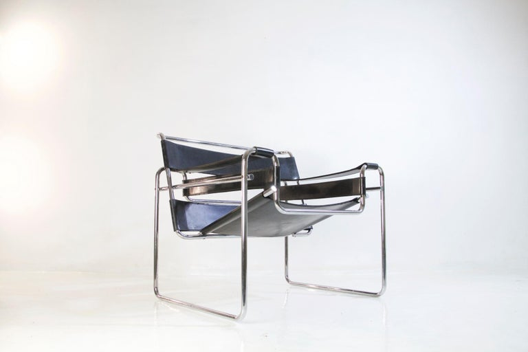 Bauhaus Wassily Chair by Marcel Breuer for Knoll International For Sale 7
