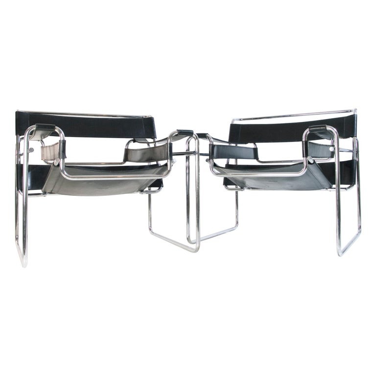Bauhaus Wassily Chair by Marcel Breuer for Knoll International For Sale