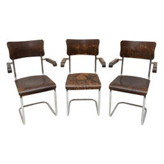 Bauhaus Writing Desk Chairs by Robert Slezák, 1930s, Price Is Per Piece