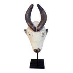 Baule Antelope Wood Mask, Mid-20th Century