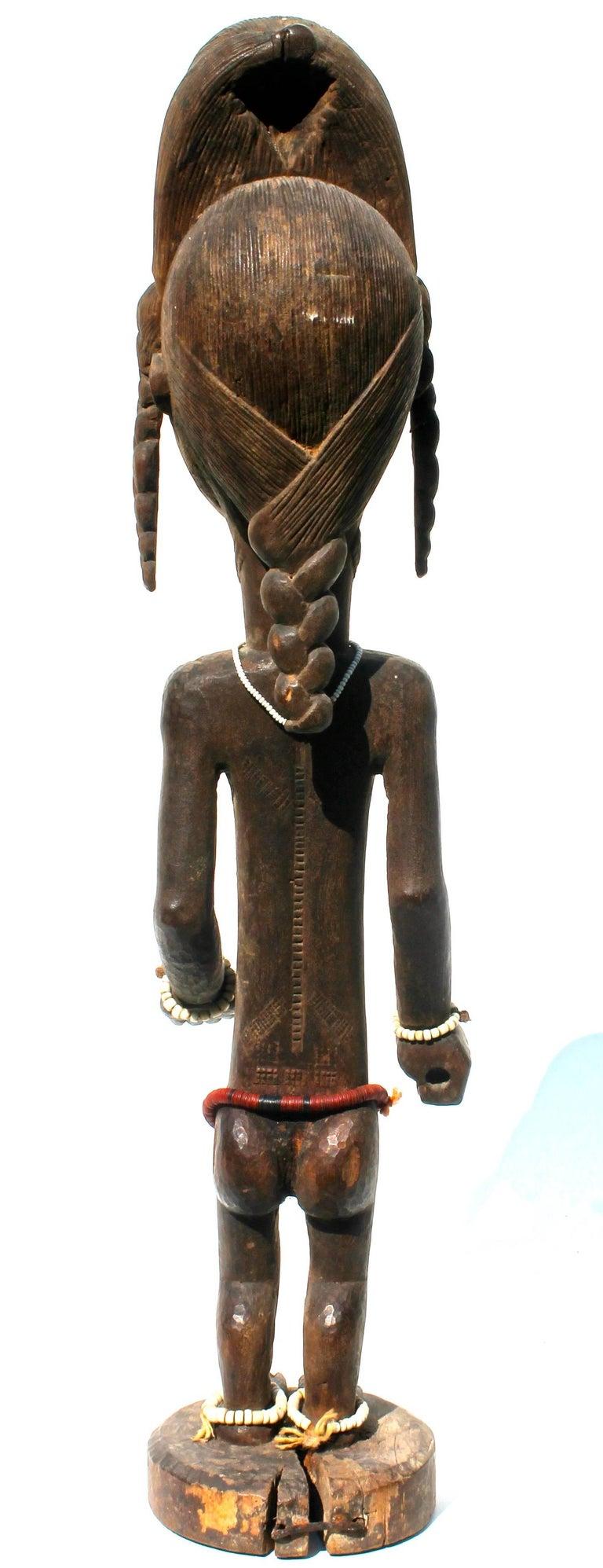 Ivorian Baule Female Carved Wood Figure, African Sculpture Sotheby's Provenance For Sale