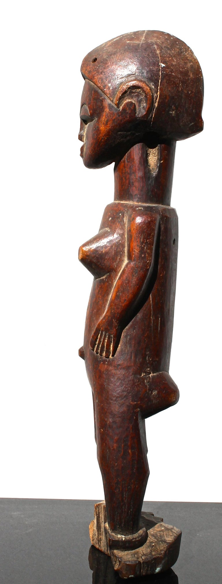 Ghanaian Baule Female Figure African Sculpture For Sale