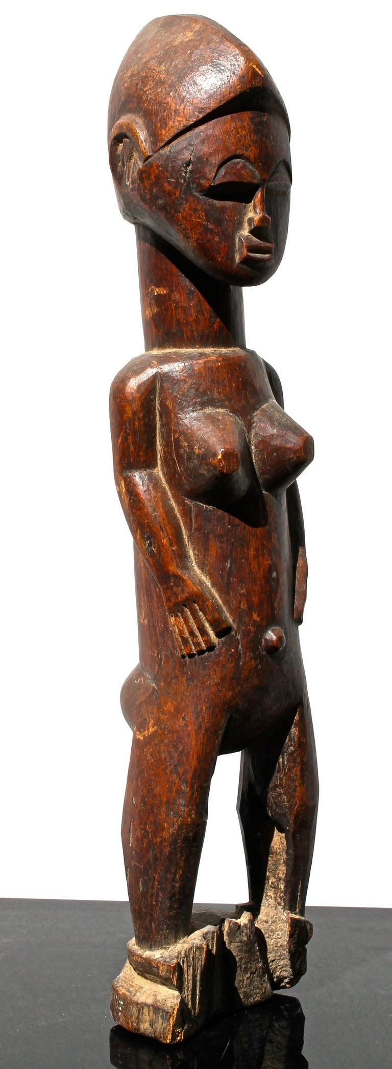 Baule Female Figure African Sculpture For Sale 1