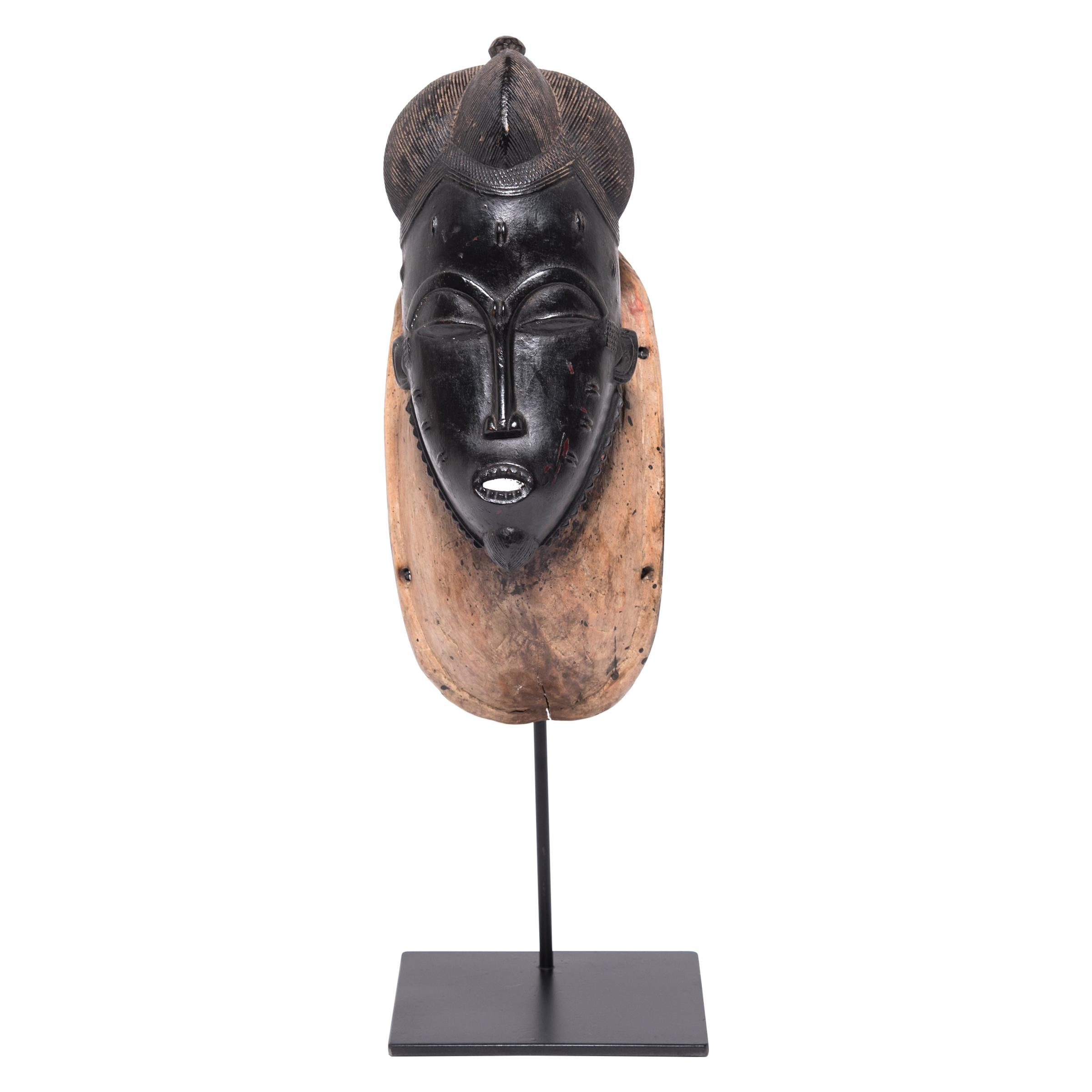 Baule Male Ndoma Portrait Mask