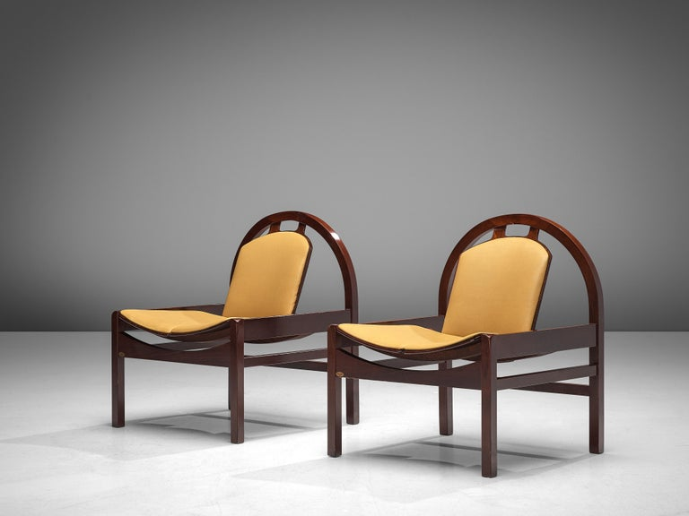 Late 20th Century Baumann 'Argos' Lounge Chairs in Leather For Sale