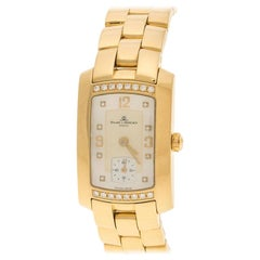 Baume and Mercier  18K Yellow Gold and Hampton Milleis Women's Wristwatch 22 mm