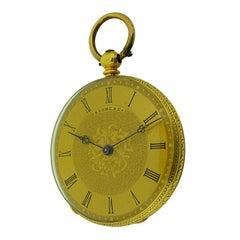 Baume 'Before Mercier' 18 Karat Yellow Gold Keywind Pocket Watch, circa 1860s