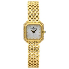 Baume et Mercier 18 Karat Yellow Gold MOP Diamond Quartz Ladies Watch 18259