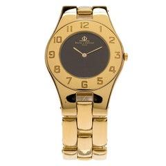 Baume et Mercier Black Gold-Plated Stainless Steel Linea Women's Wristwatch 30MM