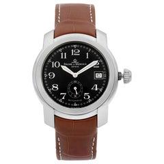 Baume et Mercier Capeland Steel Black Arabic Dial Automatic Men's Watch MV045221
