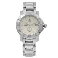 Baume et Mercier Capeland Steel Silver Dial Automatic Men's Watch MOA08125