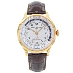 Baume et Mercier Capeland Worldtimer Beige Dial 18k Rose Gold Men's Watch 10107
