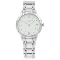 Baume et Mercier Classima White Roman Dial Steel Quartz Ladies Watch 10335
