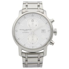 Baume et Mercier Classima XL Steel White Dial Automatic Men's Watch 65591