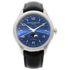 Baume et Mercier Clifton Moonphase Day Date Steel Automatic Men's Watch MOA10057