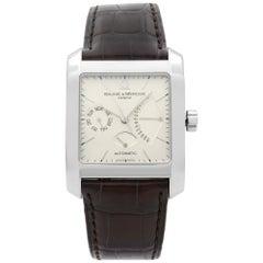 Baume et Mercier Hampton Classic Square Day-Date Silver Dial Men's Watch 8757