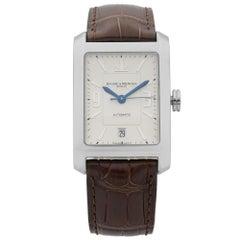 Baume et Mercier Hampton Classic Steel Silver Dial Automatic Mens Watch MOA08822