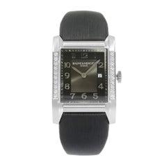 Baume et Mercier Hampton Milleis Steel Satin Diamond Quartz Ladies Watch 10022