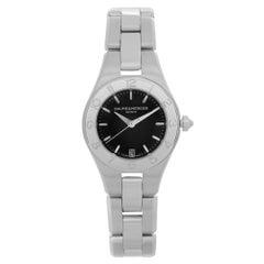 Baume et Mercier Linea Stainless Steel Black Dial Quartz Ladies Watch 10010