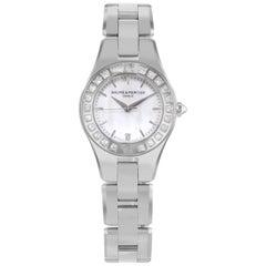 Baume et Mercier Linea MOP Dial Steel Diamonds Quartz Ladies Watch MOA10078