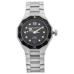 Baume et Mercier Riviera Steel Black Dial Automatic Mens Watch MOA08778