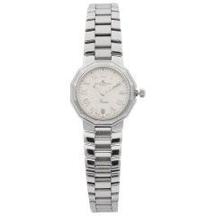 Baume et Mercier Riviera Steel Roman Silver Dial Quartz Ladies Watch MV040078