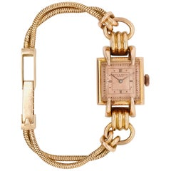 Baume et Mercier Rose Gold 18 Karat Women Retro Watch
