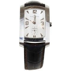 Baume et Mercier Stainless Steel Black Leather Strap Watch