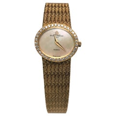 Baume & Mercier 18 Karat Yellow Gold Diamond Watch