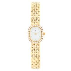 Baume & Mercier 18 Karat Yellow Gold Diamond Watch