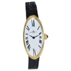 Baume & Mercier 18 Karat Yellow Gold Wristwatch Originally Sold to Jerry Lewis