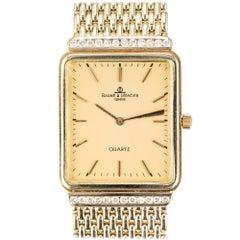 Baume & Mercier .40 Carat Diamond Yellow Gold Unisex Wristwatch