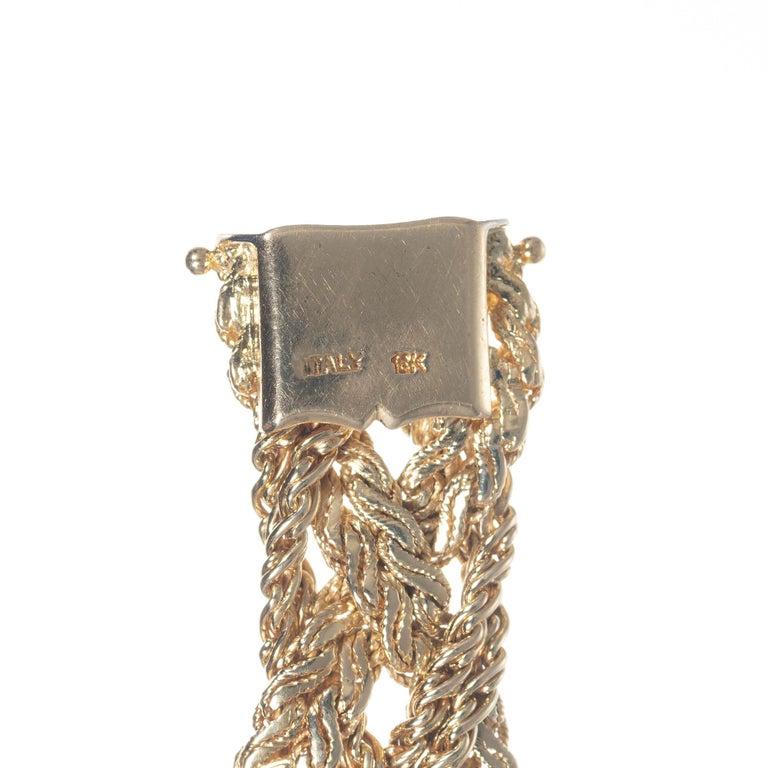 Baume & Mercier .75 Carat Diamond Jade Yellow Gold Ladies Wristwatch For Sale 1