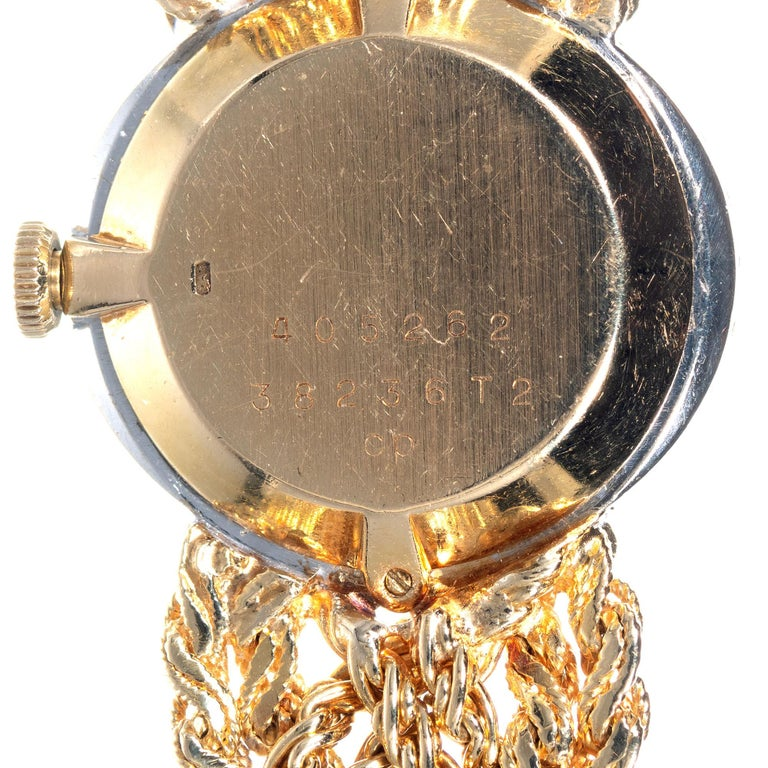 Baume & Mercier .75 Carat Diamond Jade Yellow Gold Ladies Wristwatch For Sale 2