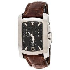 Baume & Mercier Black Stainless Steel 65448 Chronograph Men's Wristwatch 30 mm