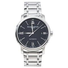 Baume & Mercier Black Steel Classima XL 65534 Automatic Men's Wristwatch 41 MM