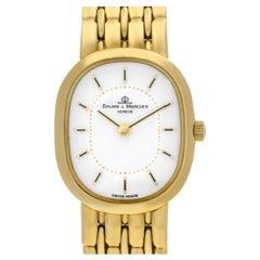 Baume & Mercier Classic 186009 18 Karat White Dial Quartz Watch