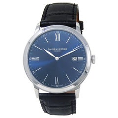 Baume & Mercier Classima M0A10324, Blue Dial, Certified and Warranty
