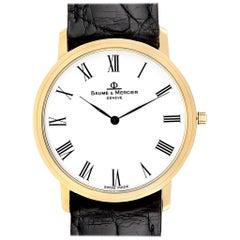Baume Mercier Classima Ultra Thin 18 Karat Yellow Gold Quartz Watch 95612